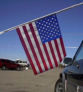 Wholesale CAR DEALER LOT 3- 60' Poly AMERICAN FLAG PENNANT STREAMERS