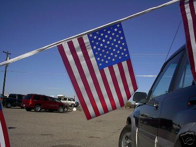6 60 Poly American Flag Pennant Streamers Free Shipping