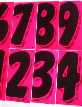 22 pink numbers