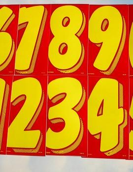22 red y numbers