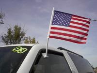 clip on amer flag